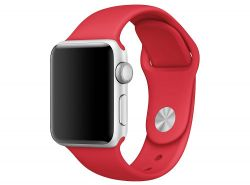 PASEK CASSY SMOOTHBAND APPLE WATCH 1/2/3/4 (42/44MM) FIRE RED
