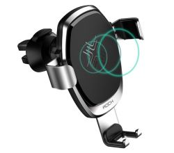 UCHWYT SAMOCHODOWY ROCK GRAVITY VENT CAR MOUNT WIRELESS CHARGER GREY