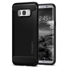 ETUI SPIGEN RUGGED ARMOR GALAXY S8+ PLUS BLACK