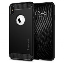 ETUI SPIGEN RUGGED ARMOR IPHONE XS MAX MATTE BLACK