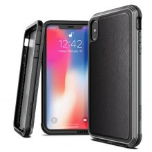 ETUI X-DORIA DEFENSE LUX IPHONE X/XS BLACK LEATHER