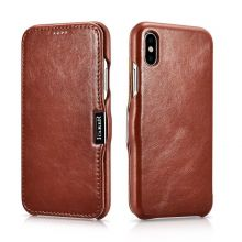 ETUI ICARER VINTAGE IPHONE X/XS BROWN