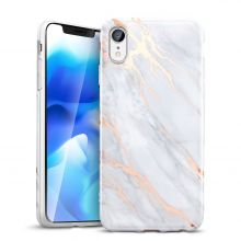 ETUI ESR MARBLE IPHONE XR GREY/GOLD