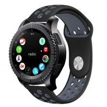 PASEK TECH-PROTECT SOFTBAND SAMSUNG GALAXY WATCH 42MM BLACK/GREY