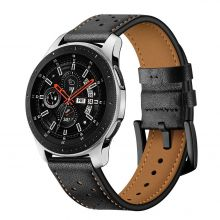 SKÓRZANY PASEK TECH-PROTECT LEATHER SAMSUNG GALAXY WATCH 46MM BLACK