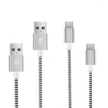 KABEL DUXDUCIS 2-PACK TYPE-C CABLE 100CM + 20CM SILVER
