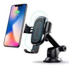 UCHWYT SAMOCHODOWY BASEUS GRAVITY DASH CAR MOUNT WIRELESS CHARGER BLACK