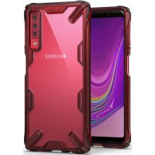 ETUI RINGKE FUSION X GALAXY A7 2018 RUBY RED