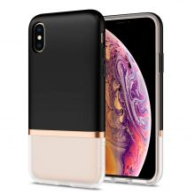 ETUI SPIGEN LA MANON JUPE IPHONE X/XS MILK BLACK