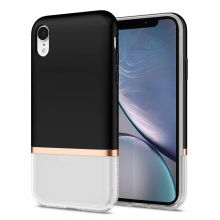 ETUI SPIGEN LA MANON JUPE IPHONE XR MILK BLACK