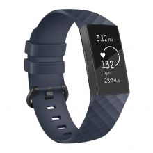 PASEK TECH-PROTECT SMOOTH FITBIT CHARGE 3 NAVY