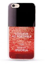 ETUI CASSY GLITTER NAIL POLISH IPHONE 6/6S RED