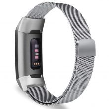 BRANSOLETA TECH-PROTECT MILANESEBAND FITBIT CHARGE 3 SILVER