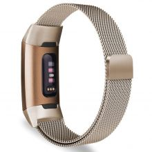 BRANSOLETA TECH-PROTECT MILANESEBAND FITBIT CHARGE 3 CHAMPAGNE GOLD