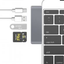 TECH-PROTECT ADAPTER TYPE-C TO MULTI PORT 5IN1 GRAY