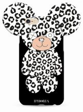 ETUI CASSY TEDDY BEAR IPHONE 6/6S WHITE LEOPARD