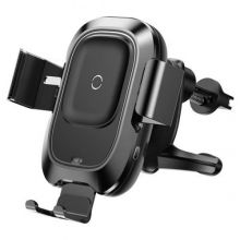 UCHWYT SAMOCHODOWY BASEUS VEHICLE VENT CAR MOUNT WIRELESS CHARGER BLACK