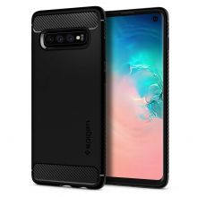 ETUI SPIGEN RUGGED ARMOR GALAXY S10 MATTE BLACK