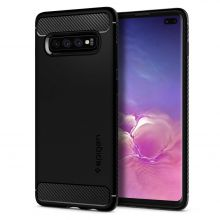 ETUI SPIGEN RUGGED ARMOR GALAXY S10+ PLUS MATTE BLACK