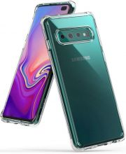 ETUI RINGKE FUSION GALAXY S10+ PLUS CRYSTAL VIEW
