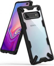 ETUI RINGKE FUSION X GALAXY S10+ PLUS BLACK