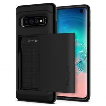 ETUI SPIGEN SLIM ARMOR CS GALAXY S10 BLACK