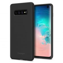 ETUI SPIGEN SILICONE FIT GALAXY S10+ PLUS BLACK