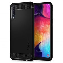 ETUI SPIGEN RUGGED ARMOR GALAXY A50 MATTE BLACK