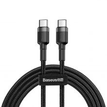 KABEL BASEUS PD60W/QC3.0 TYPE-C CABLE 100CM GREY/BLACK