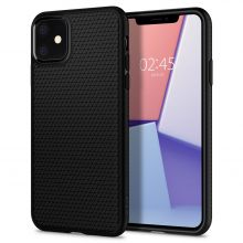 ETUI SPIGEN LIQUID AIR IPHONE 11 MATTE BLACK