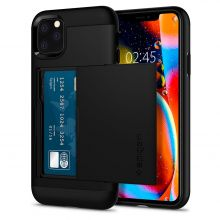 ETUI SPIGEN SLIM ARMOR CS IPHONE 11 PRO MAX BLACK