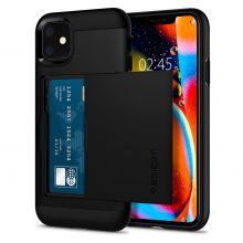ETUI SPIGEN SLIM ARMOR CS IPHONE 11 BLACK