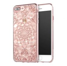 ETUI CASSY DIAMOND IPHONE 7/8 PLUS CLEAR PINK