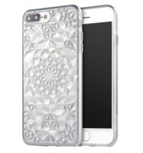 ETUI CASSY DIAMOND IPHONE 7/8 PLUS CLEAR SILVER