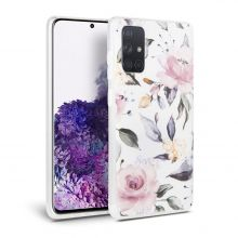 ETUI TECH-PROTECT FLORAL GALAXY A51 WHITE