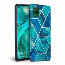 ETUI TECH-PROTECT MARBLE HUAWEI P40 LITE BLUE
