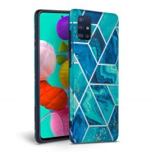 ETUI TECH-PROTECT MARBLE GALAXY A41 BLUE