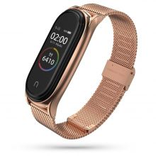 BRANSOLETA TECH-PROTECT MILANESEBAND XIAOMI MI SMART BAND 5/6 ROSE GOLD
