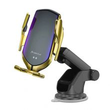 UCHWYT SAMOCHODOWY TECH-PROTECT R2 CAR MOUNT WIRELESS CHARGER GOLD