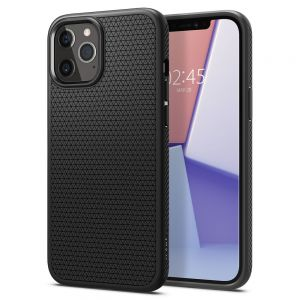 ETUI SPIGEN LIQUID AIR IPHONE 12/12 PRO MATTE BLACK