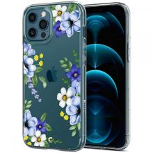 ETUI SPIGEN CYRILL CECILE IPHONE 12/12 PRO MIDNIGHT BLOOM