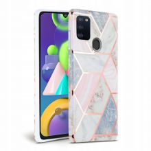 ETUI TECH-PROTECT MARBLE GALAXY A21S PINK