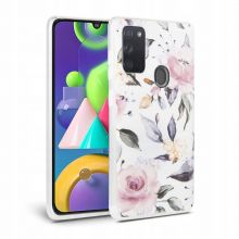 ETUI TECH-PROTECT FLORAL GALAXY A21S WHITE