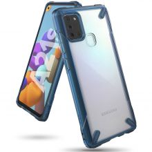 ETUI RINGKE FUSION X GALAXY A21S SPACE BLUE