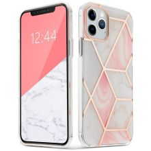 "ETUI TECH-PROTECT MARBLE ""2"" IPHONE 12/12 PRO PINK"