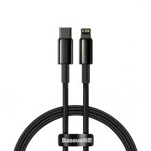 KABEL BASEUS DATA PD20W TYPE-C TO LIGHTNING CABLE 100CM BLACK