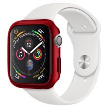 ETUI SPIGEN THIN FIT APPLE WATCH 4/5/6/SE (44MM) RED