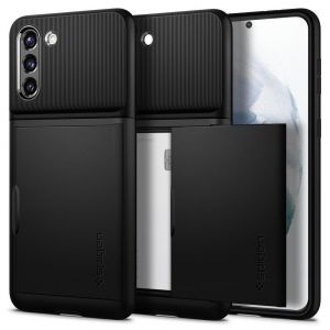 ETUI SPIGEN SLIM ARMOR CS GALAXY S21+ PLUS BLACK