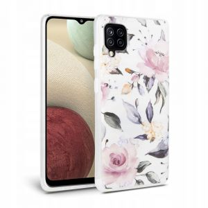 ETUI TECH-PROTECT FLORAL GALAXY A12 WHITE