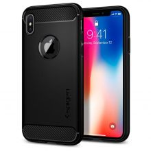 ETUI SPIGEN RUGGED ARMOR IPHONE X/10 BLACK
